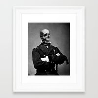 general Framed Art Prints featuring General Skully by George Michael Art