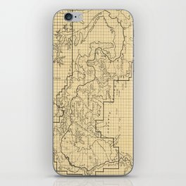 Vintage Map of The Grand Canyon (1908) iPhone Skin