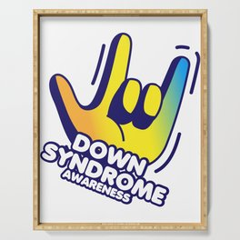 Down Syndrome Awareness Serving Tray