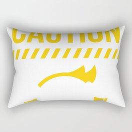 Caution Gaming In Progress Rectangular Pillow