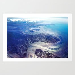 Overlook of Land and Sea Art Print