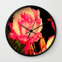 rare Wall Clocks featuring Rare Rose  by Ambers Vintage Find
