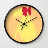 sailor venus Wall Clocks featuring Sailor Venus by karla estrada