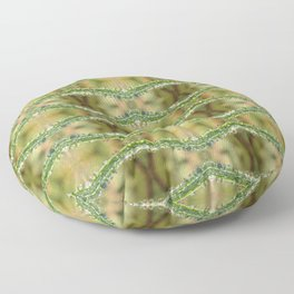 Grass Droplets Pattern Floor Pillow