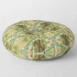 Grass Droplets Pattern Floor Pillow
