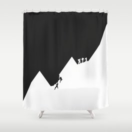 Different path to the top Shower Curtain