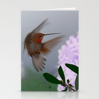 hummingbird Stationery Cards featuring Hummingbird by dBranes