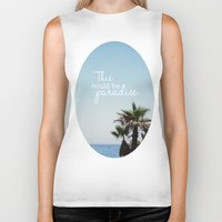 palms Biker Tanks featuring Palms by hayleyhigson