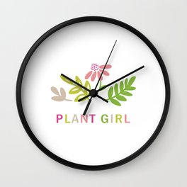 Plant girl Wall Clock