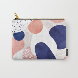 Terrazzo galaxy pink blue white Carry-All Pouch