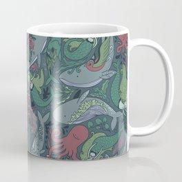 Tattoo master octopus. Whales, mermaids, sharks. Coffee Mug