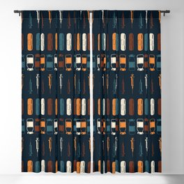 Vintage Vaccines - Large on Navy Blackout Curtain