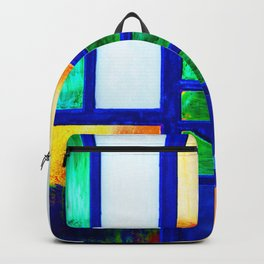 Art Deco Colorful Stained Glass Backpack