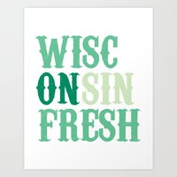 Wisconsin Fresh Green Art Print