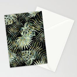 Jungle Dark Tropical Leaves #decor #society6 #pattern #style Stationery Cards