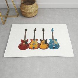 Four Electric Guitars Rug