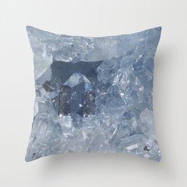BABY BLUE CELESTINE Throw Pillow
