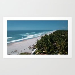 Waves and Palms Art Print