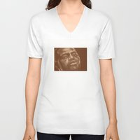chad wys V-neck T-shirts featuring round 8..chad dawson by noblackcolor