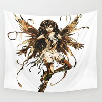 fairy Wall Tapestries featuring fairy by Vector Art