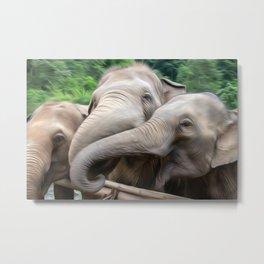 Elephants Art One Metal Print