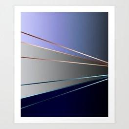 Blue, gray, light blue Art Print