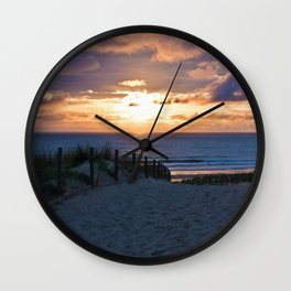 way to the beach 2 Wall Clock