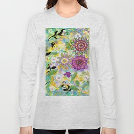 Summer Soft Floral Long Sleeve T-shirt
