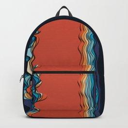 Fire goddess kisses the ocean Backpack