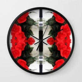 Summer Red Skulls 2012 Wall Clock