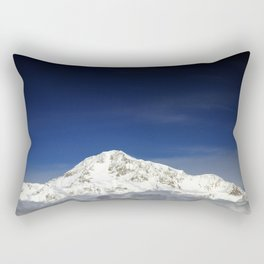 Mount McKinley or Denali (The Great One) in Alaska is the highest mountain peak in North America at Rectangular Pillow