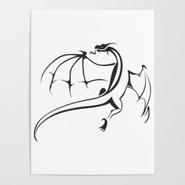 A simple flying dragon Poster