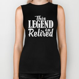 This Legend is Retired, Senior Citizen, Hello Pension, Pensioner, Funny Retirement Announcement Biker Tank