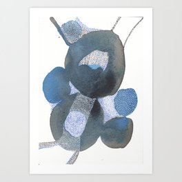 Up and Away Watercolor Point Abstract Art Print