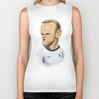 england Biker Tanks featuring Rooney - England by Sant Toscanni