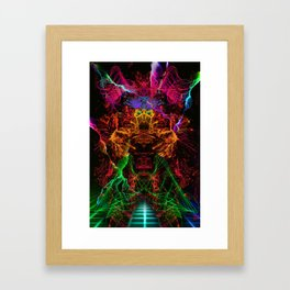 Jerry, The Cyber Fighter Framed Art Print