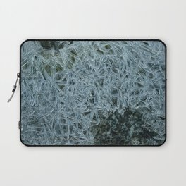 Ice pattern, frost decorating little stream of water Laptop Sleeve