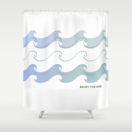 Enjoy the ride.  Shower Curtain