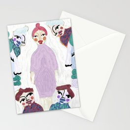 The center of attention, Puppet Show by Nina Sencar Stationery Cards