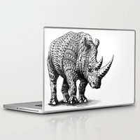 bioworkz Laptop & iPad Skins featuring Rhinoceros by BIOWORKZ