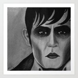 Barnabas Collins - Dark Shadows - Johnny Depp Art Print