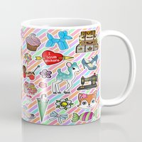 stickers Mugs featuring I Love Stickers by Jade Boylan