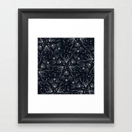 Arctic geometric dark Framed Art Print