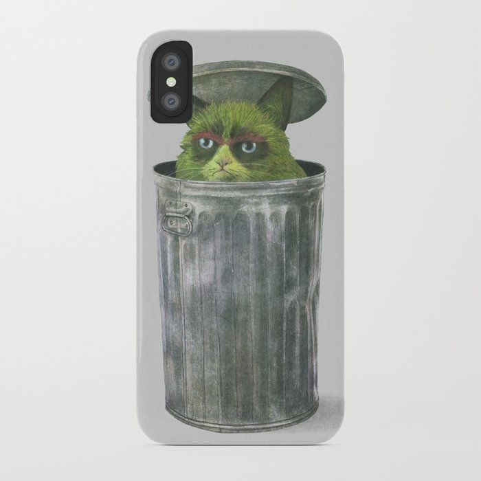 Grouchy Cat  iPhone Case