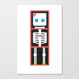 miss skelington Canvas Print