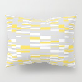 Mosaic Rectangles in Yellow Gray White #design #society6 #artprints Pillow Sham