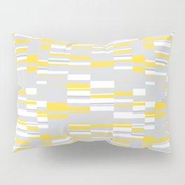 Mosaic Rectangles in Yellow Gray White #design #society6 #artprints Pillow Sham