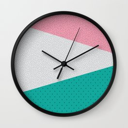 Memphis Patterns Wall Clock