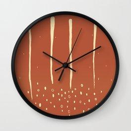 Rain and Soil_earthtone Wall Clock