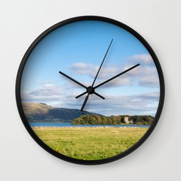 View of Loch Leven in Scotland Wall Clock
